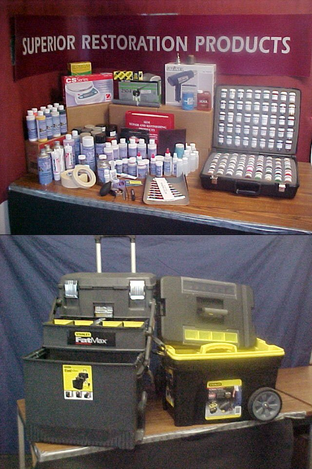 BASIC Interior Repair System with Color Matching Kit, Color Swatches and Formulas