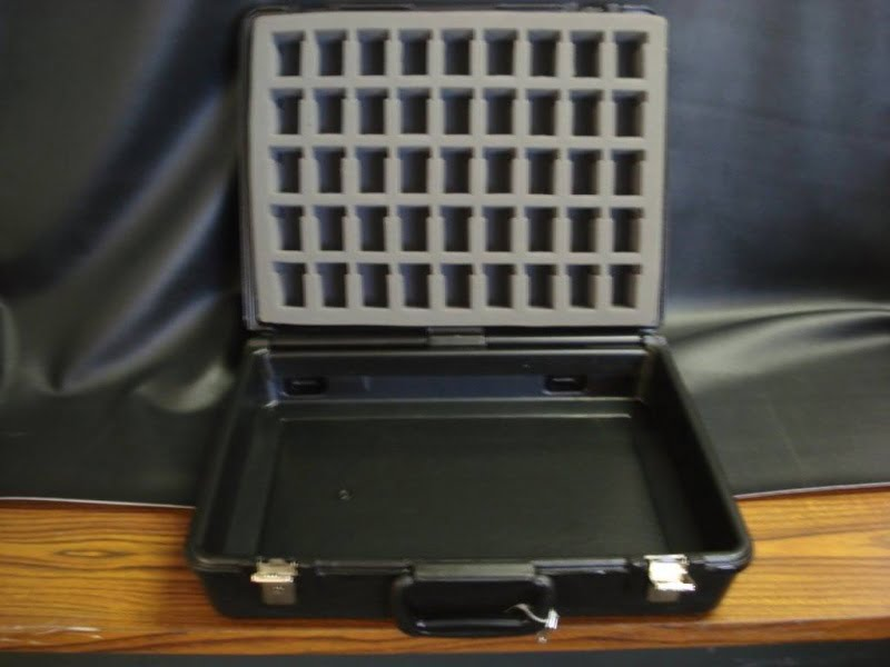 Black Velour  Carrying Case with 1 side Foam