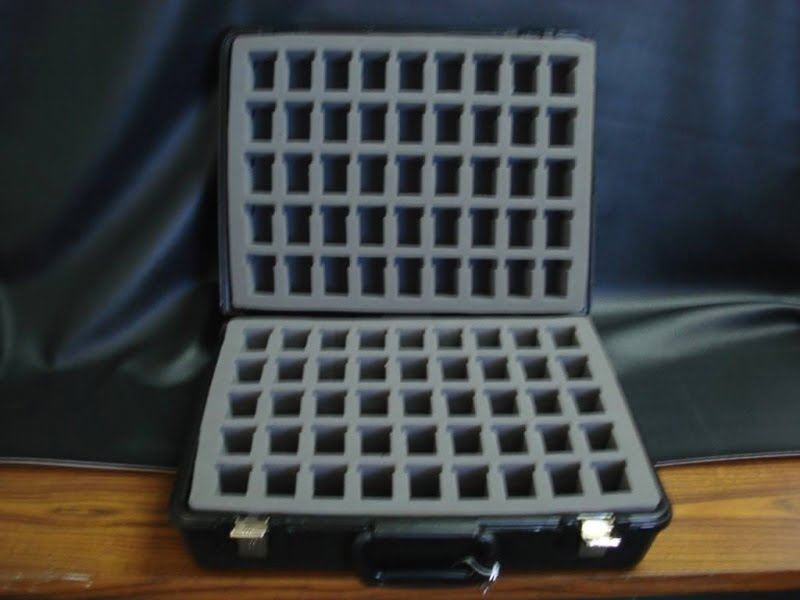 Black Velour  Carrying Case with 2 side Foam