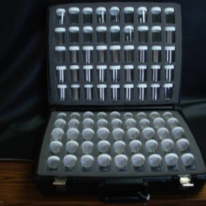 Black Velour  Carrying Case with 90 Empty Jars in Foam